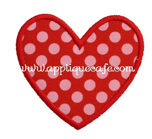 Mini Valentine Heart Applique Design