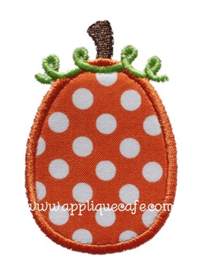 Mini Pumpkin Applique Design