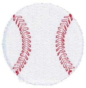 Mini Embroidery Baseball Design