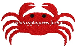 Mini Crab Embroidery Design