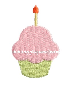 Mini Embroidery Cupcake Design