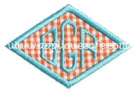 Mini Diamond Patch Applique Design