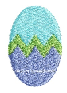 Mini Embroidery Easter Egg Design