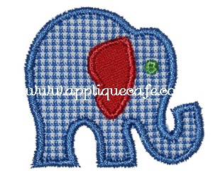 Mini Elephant Applique Design