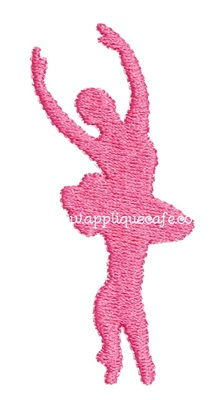 Mini Embroidery Ballerina Design