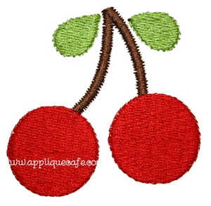 Mini Embroidery Cherries Design