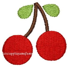 Mini Embroidery Cherries Design