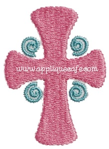 Mini Embroidery Cross Design