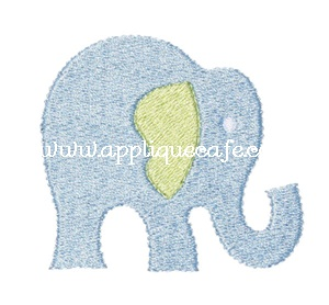 Mini Embroidery Elephant Design
