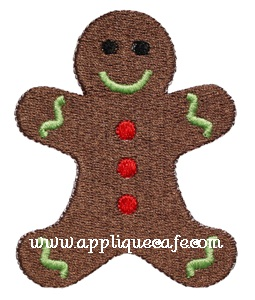 Mini Embroidery Gingerbread Man Design