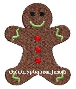 Mini Embroidery Gingerbread Man Design