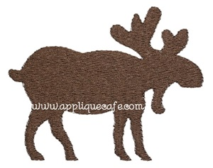 Mini Embroidery Moose Design