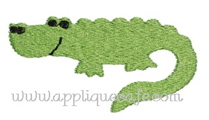 Mini Embroidery Gator Design