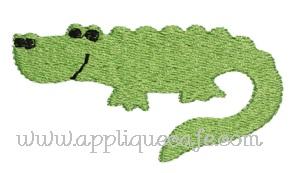 Mini Embroidery Gator Design