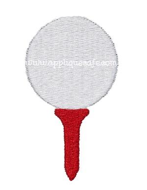 Mini Embroidery Golf Ball Design