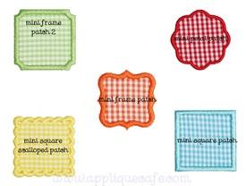 Mini Patches Applique Design
