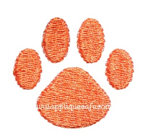 Mini Embroidery Paw Print Design