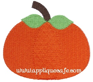 Mini Embroidery Pumpkin Design