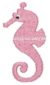 Mini Embroidery Seahorse Design