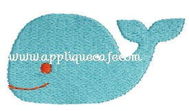 Mini Embroidery Whale Design