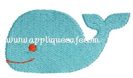 Mini Embroidery Whale Design