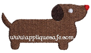 Mini Embroidery Wiener Dog Design