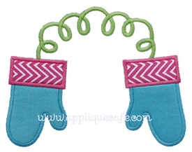 Mittens 2 Applique Design
