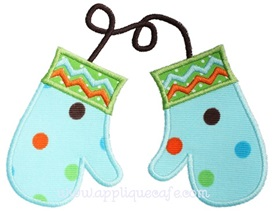 Mittens Applique Design