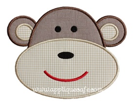Monkey Applique Design