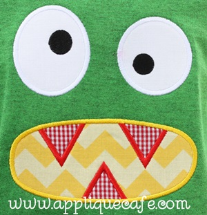 Monster Face Applique Design