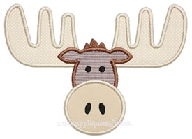 Moose Applique Design