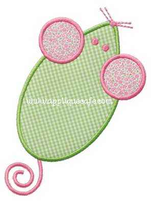 Mouse Applique Design
