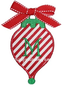 Christmas Ornament3 Applique Design