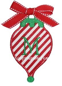 Christmas Ornament3 Applique Design