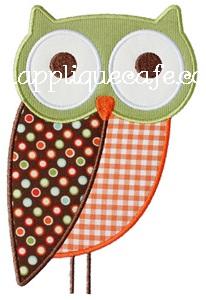 Owl2 Applique Design