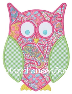 Owl 3 Applique Design