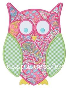 Owl 3 Applique Design