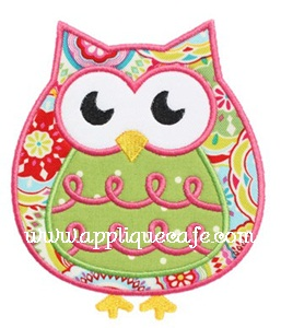 Owl 4 Applique Design
