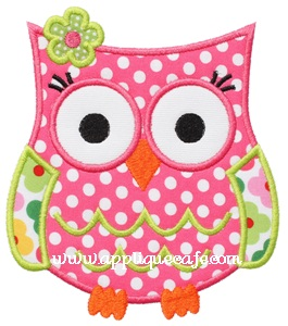 Owl 5 Applique Design