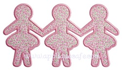 Paper Dolls Applique Design