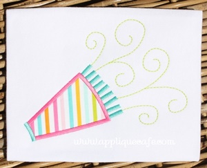 Party Horn Applique Design