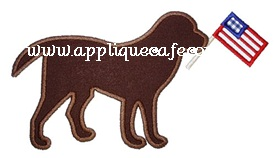 Patriotic Dog Applique Design