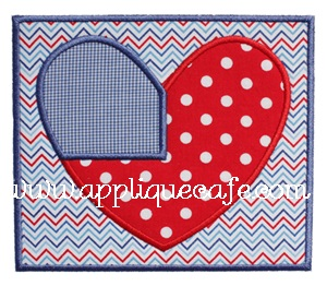 Patriotic Patch Applique Design