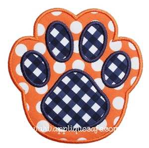 Paw Print 2 Applique Design