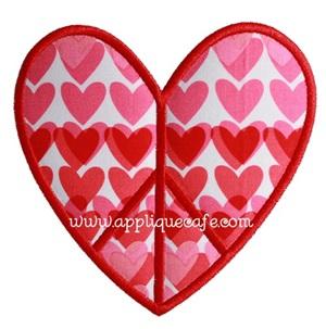 Peace Heart Applique Design