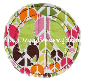 Peace Sign Applique Design