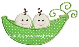 Pea Pod Applique Design