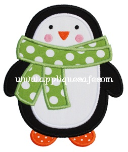 Penguin 2 Applique Design