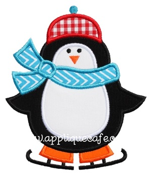 Penguin 3 Applique Design