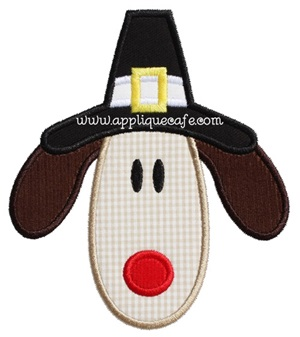 Pilgrim Dog 2 Applique Design